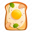 egg, food, fried, morning, toast