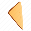 food, toast, triangle, cooking