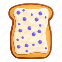 berry, butter, food, toast
