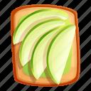 avocado, bread, food, fruit, sandwich, toast