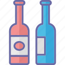 alcohol, beer bottles, brewery, champagne bottles icon