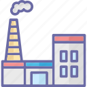 factory, industry, manufacturing plant, power plant icon