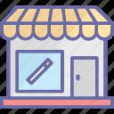 cigarette kiosk, cigarette shop, cigarette store, tobacco shop icon