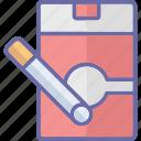 cig, cigarette, cigarette pack, nicotine icon