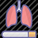 body organ, breathing organ bronchi, lungs icon