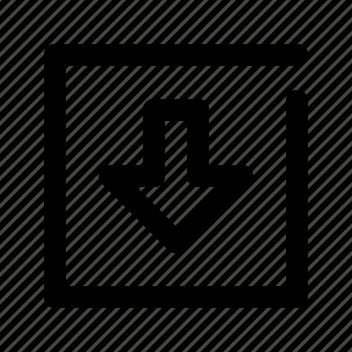 down, icon, toggle, web icon