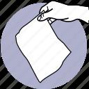 tissue, paper, hand, piece, napkin