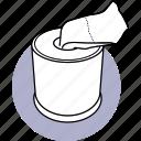 toilet, paper, tissue, box, napkin