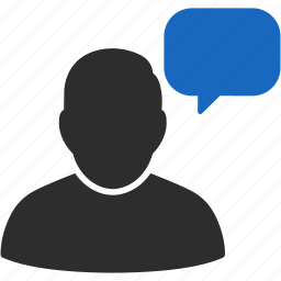 account, avatar, chat, client, comment, communication, contact, customer, hint, human, man, manager, member, people, person, profile, talk, thinking, user, users icon