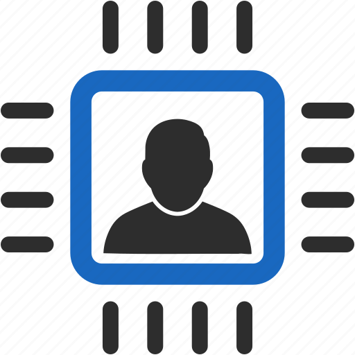 account, avatar, client, contact, customer, cyborg, electrconics, human, integration, man, manager, member, people, person, processor, profile, user, users icon