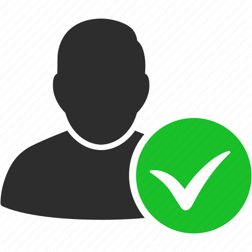 account, approve, avatar, client, contact, customer, human, man, manager, member, ok, people, person, profile, user, users icon