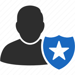account, authorization, avatar, client, contact, customer, human, man, manager, member, people, person, profile, protection, shield, user, users icon