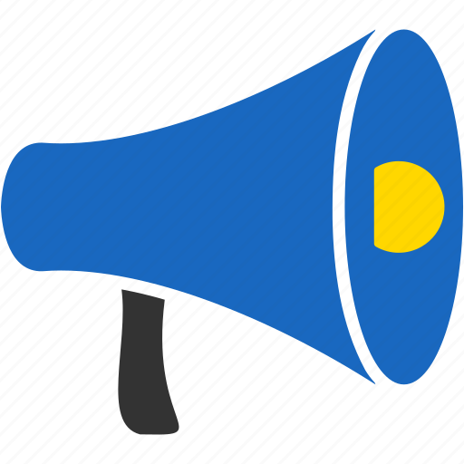 alert, attention, marketing, megaphone, news, social, speaker icon