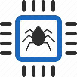 error, hardware, safety, security, shield, spy bug, virus icon