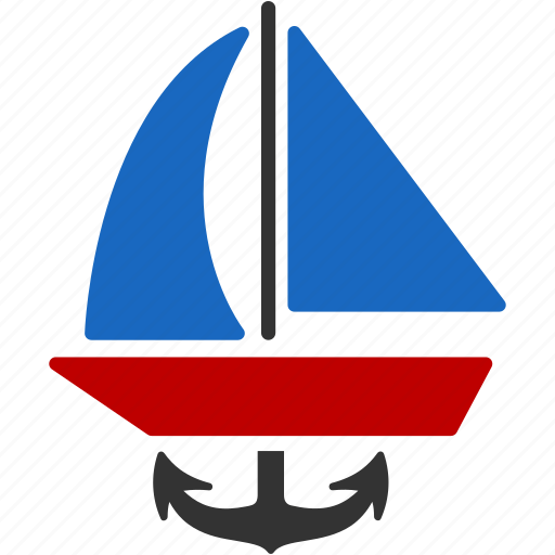 anchor, boat, navigation, ship, shipping, transport, water icon