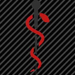 ambulance, doctor, emergency, health, hospital, medical embleme, snake pin icon