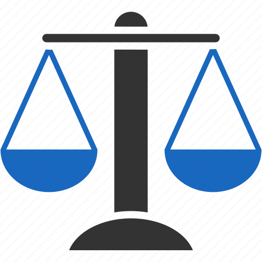 balance, compare, law, lawyer, measure, scale, scales icon