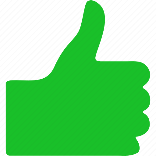 approve, finger, good mark, positive, success, thumb up, yes icon