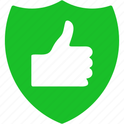approve, ok, protection, ready, success, thumb up, yes icon
