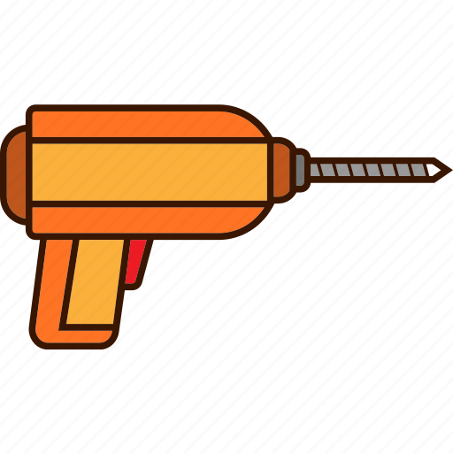drill, tools, work icon