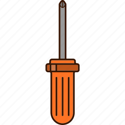screwdriver, star, tools, work icon
