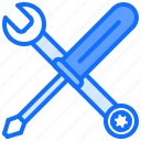 builder, building, repair, screwdriver, tool, tools, wrench icon