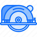 builder, building, circular, repair, saw, tool, tools icon