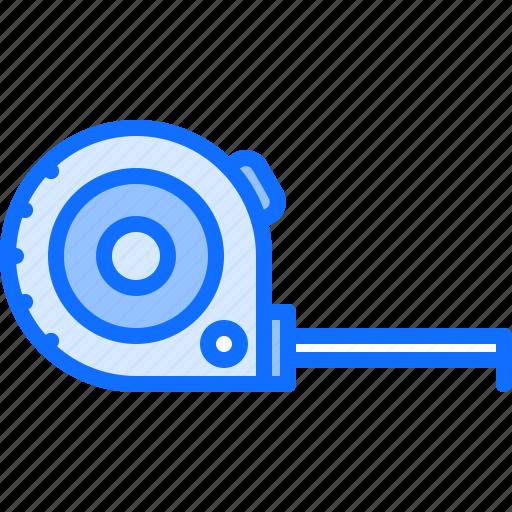 builder, building, measuring, repair, tape, tool, tools icon