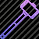builder, building, hammer, repair, sledgehammer, tool, tools icon
