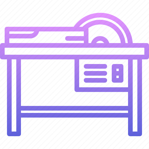 building, circular, repair, saw, table, tool, tools icon