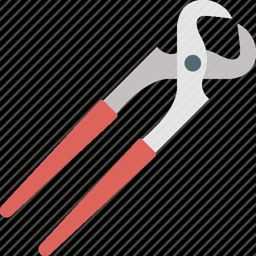 cutting nipper plier, hand tool, iron cutting plier, pincer, welding equipment icon