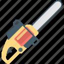 carpentry tool, chain saw, electric saw, furniture tool, wood cutting machine icon