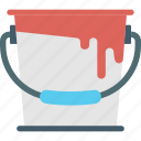 paint bucket, paint can, paint drip, painting, wall paint icon