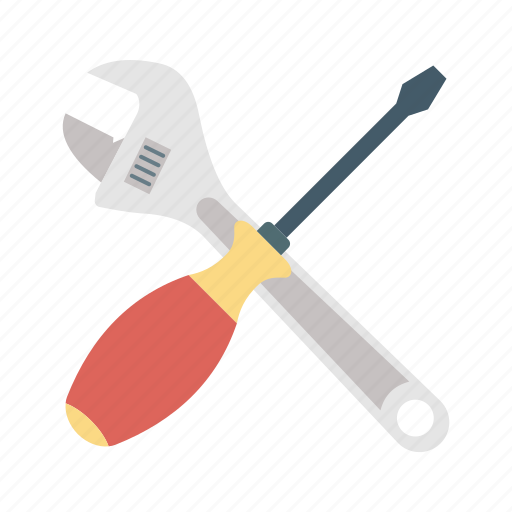 plumbing, repairing tools, service tools, tools, wrench and screwdriver icon