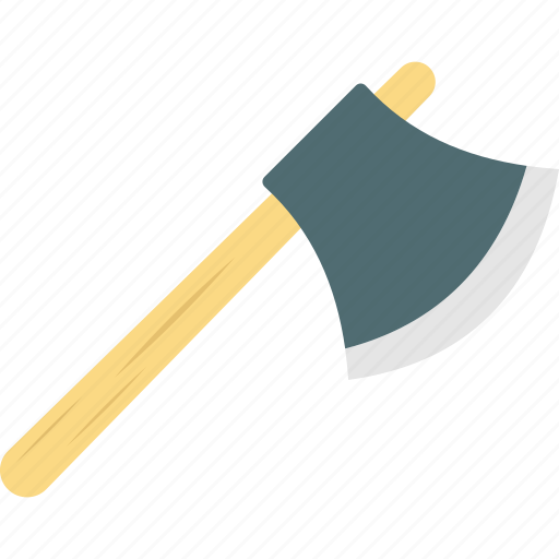 axe, forestry tool, hatchet, wood chopper, woodcutter icon