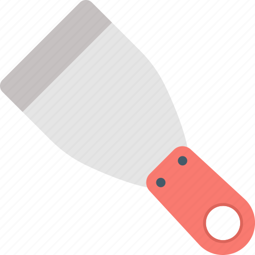 hardware tool, paint remover, putty knife, scraper, spattle icon