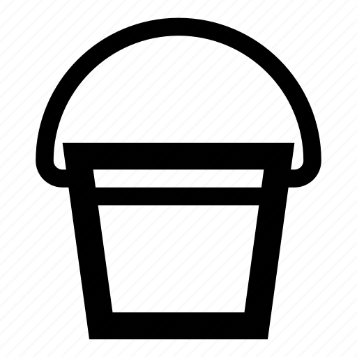 bucket, carry, container, garden, handle, tool, water bucket icon
