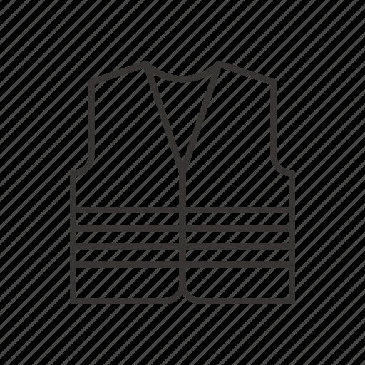 clothing, repair, road, robe, vest icon