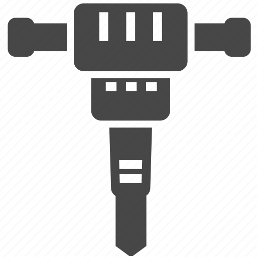 construction, jackhammer, tool icon