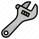 adjustable, spanner, tool, wrench icon