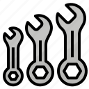 combination, set, spanner, wrench icon