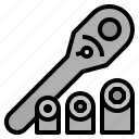 set, spanner, tool, wrench icon