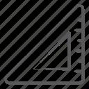ruler, architect scale, geometry, stationery, triangular scale icon