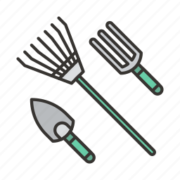 agriculture, equipment, farm, garden, plant, rake, tools icon