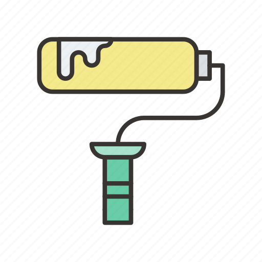 brush, paint, painting, roller, tool icon