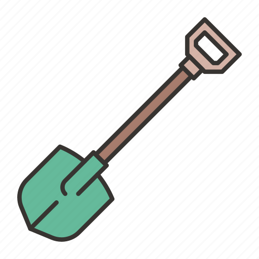 construction, equipment, gardening, shovel, spade, tool icon