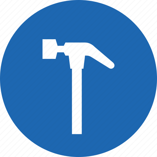 build, construction, equipment, hammer, repair, tool icon