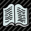 book, open, read, textbook