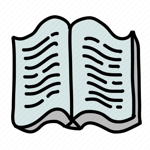 book, open, read, textbook, tools icon