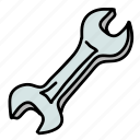 building, screw, nails, construction, wrench, tool icon